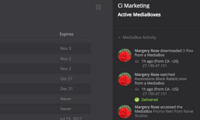 Track Mediabox Activity